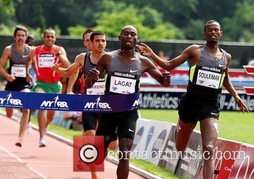 Bernard Lagat runs in the USA Men's 1500m...