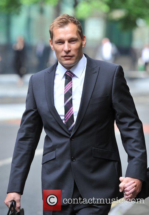 PC Simon Harwood arrives at Southwark Crown Court...