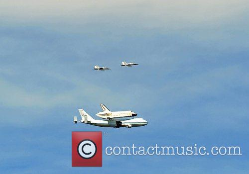 Atmosphere Space Shuttle Endeavour makes its final journey...