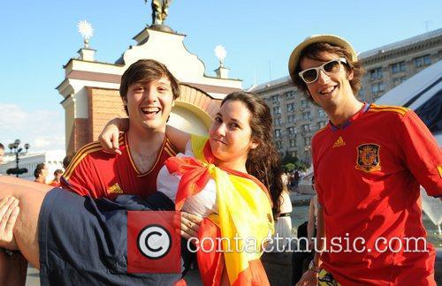 Spanish fans ahead of the Euro 2012 final...