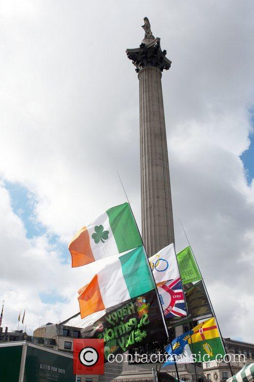 Atmosphere St Patrick's Day Festival in Trafalgar Square...