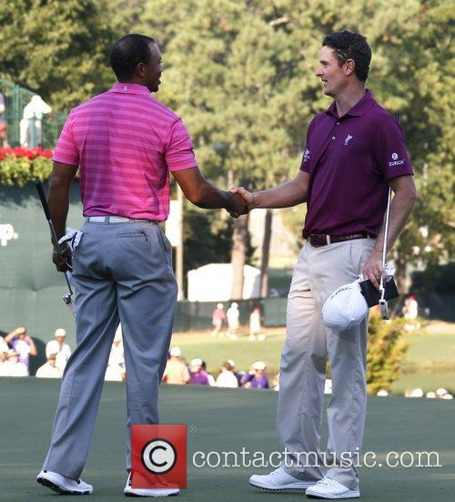 Justin Rose and Tiger Woods 1
