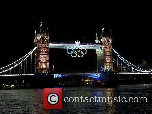 Tower Bridge is lit up on day 5...