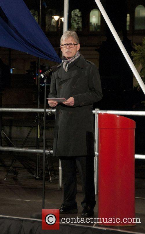 Norwegian Ambassador Kim Traavik Trafalgar Square Christmas tree...