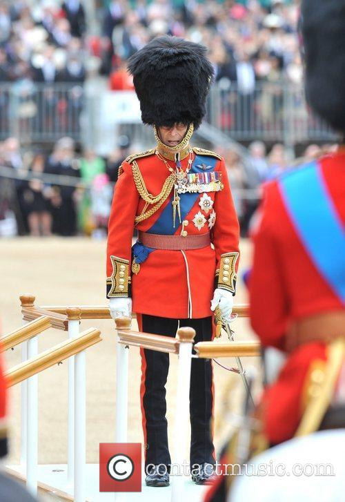 Attends the 2012 Trooping the Colour ceremony at...
