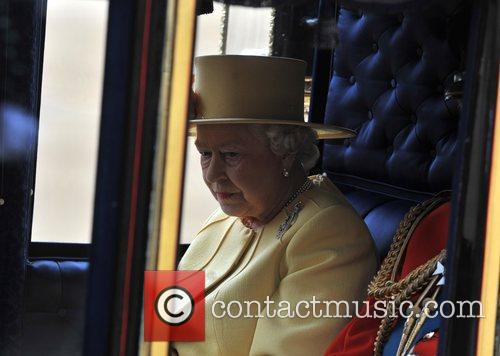 Queen Elizabeth II attends the 2012 Trooping the...