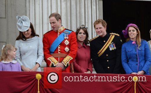 Kate Middleton, Prince Harry, Prince William and Princess Beatrice 9