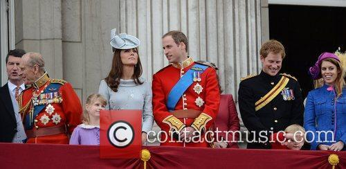 Prince Philip, Kate Middleton, Prince Harry, Prince William and Princess Beatrice 3