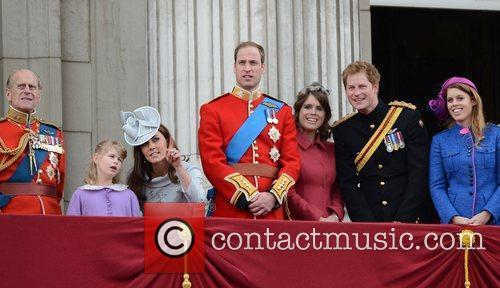 Prince Philip, Kate Middleton, Prince Harry, Prince William and Princess Beatrice 4