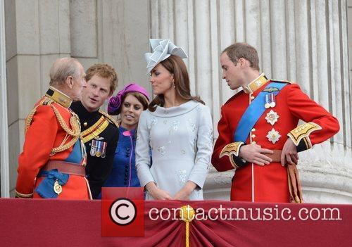 Prince Philip, Kate Middleton, Prince Harry, Prince William and Princess Beatrice 5