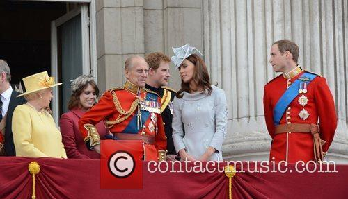 Queen Elizabeth II, Kate Middleton, Prince Harry, Prince Philip and Prince William 1