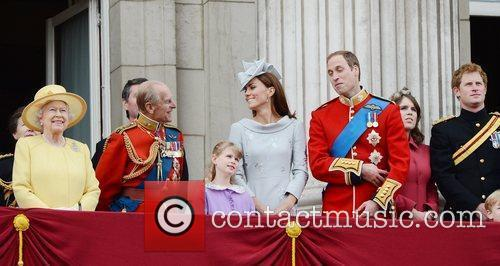Queen Elizabeth II, Kate Middleton, Prince Harry, Prince Philip and Prince William 2