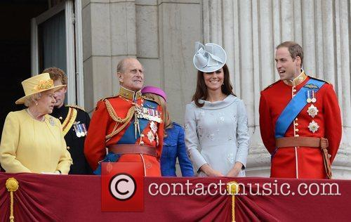 Queen Elizabeth II, Kate Middleton, Prince Philip and Prince William 2