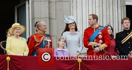 Queen Elizabeth II, Kate Middleton, Prince Harry, Prince Philip and Prince William 4
