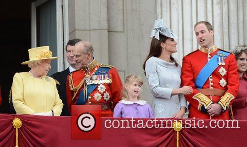 Queen Elizabeth II, Kate Middleton, Prince Philip and Prince William 1