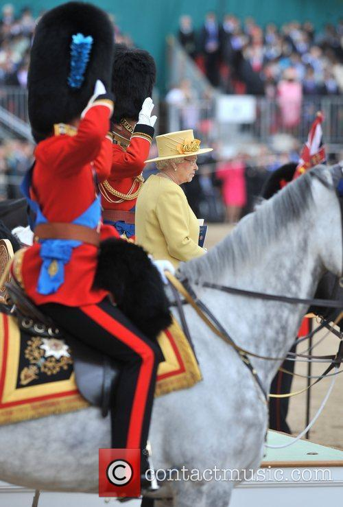 Queen Elizabeth II 2012 Trooping the Colour ceremony...