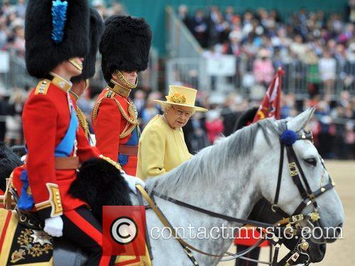 Queen Elizabeth II, Prince Charles, Prince Philip and Prince William 2