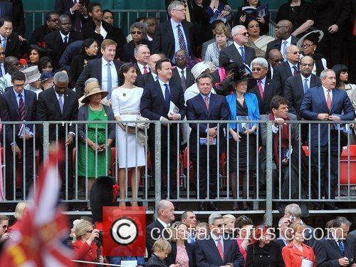 Samantha Cameron, Prime Minister David Cameron, King Abdullah...