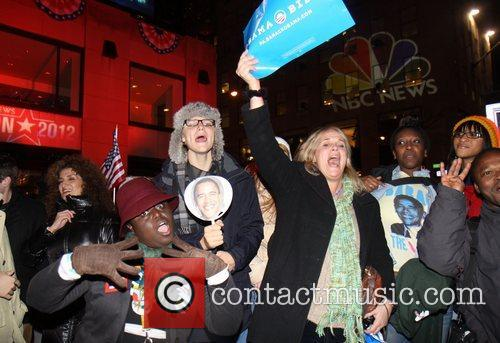 Supporters, U, Barack Obama, New York City's Rockefeller, It, Center, Democrat and White House 3
