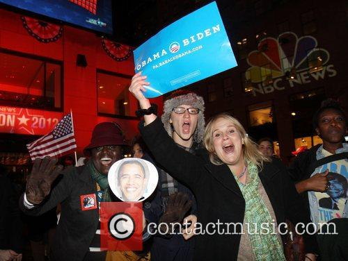 Supporters, U, Barack Obama, New York City's Rockefeller, It, Center, Democrat and White House 7