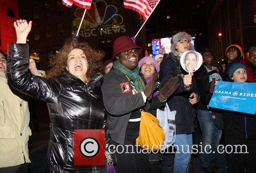 Supporters, U, Barack Obama, New York City's Rockefeller, It, Center, Democrat and White House 4