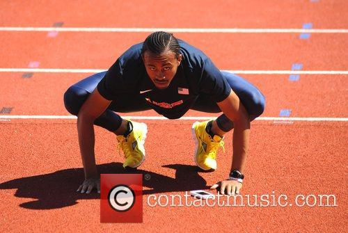 The USA Olympic Track and Field team train...