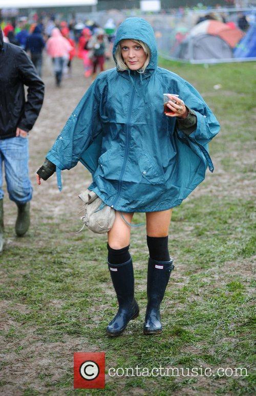 Atmosphere Festival goers arrive at Weston Park in...