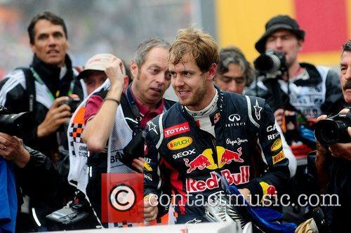World Champion, D, Sebastian Vettel, Germany, Red Bull Racing Renault, Team, Celebration and Brazilian Grand Prix 5