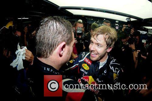 World Champion, D, Sebastian Vettel, Germany, Red Bull Racing Renault, Team, Celebration and Brazilian Grand Prix 13