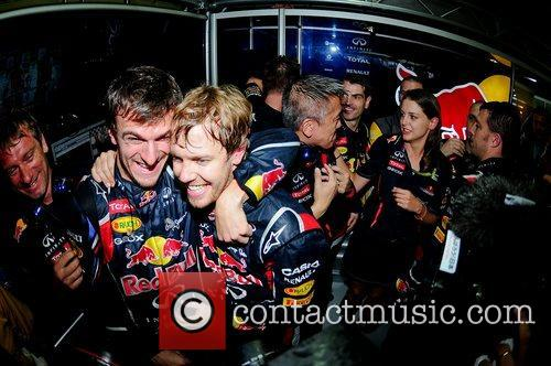 World Champion, D, Sebastian Vettel, Germany, Red Bull Racing Renault, Team, Celebration and Brazilian Grand Prix 1