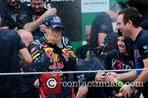 World Champion, D, Sebastian Vettel, Germany, Red Bull Racing Renault, Team, Celebration and Brazilian Grand Prix 10