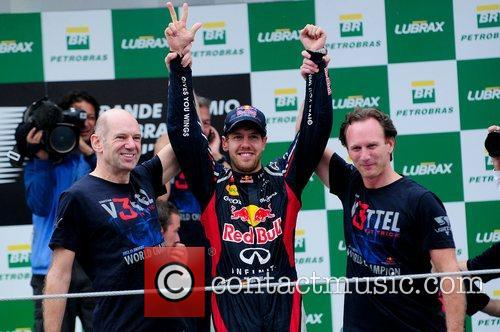 World Champion, D, Sebastian Vettel, Germany, Red Bull Racing Renault, Team, Celebration and Brazilian Grand Prix 15