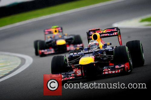 World Champion, D, Sebastian Vettel, Germany, Red Bull Racing Renault, Team, Celebration and Brazilian Grand Prix 4