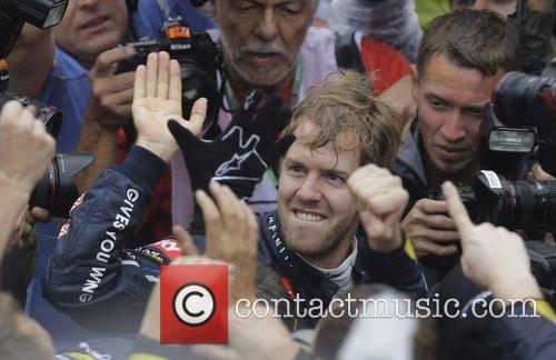 World Champion, D, Sebastian Vettel, Germany, Red Bull Racing Renault, Team, Celebration and Brazilian Grand Prix 9