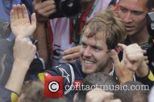 World Champion, D, Sebastian Vettel, Germany, Red Bull Racing Renault, Team, Celebration and Brazilian Grand Prix 6