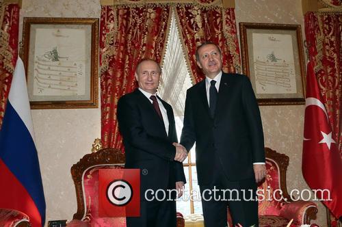 Featuring: Vladimir Putin, Recep Tayyip ErdoganWhere: Istanbul, United...