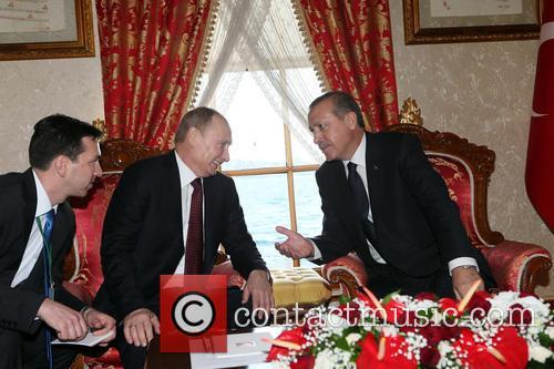 Russian President Vladimir Putin, Turkish Prime Minister Recep, Tayyip Erdogan and Istanbul 5