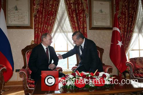 Russian President Vladimir Putin, Turkish Prime Minister Recep, Tayyip Erdogan and Istanbul 7
