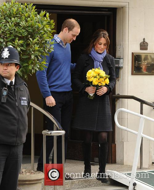 Prince William, The Duke, Cambridge, Kate Middleton, Duchess, King Edward, Hospital, Catherine and Monday 9