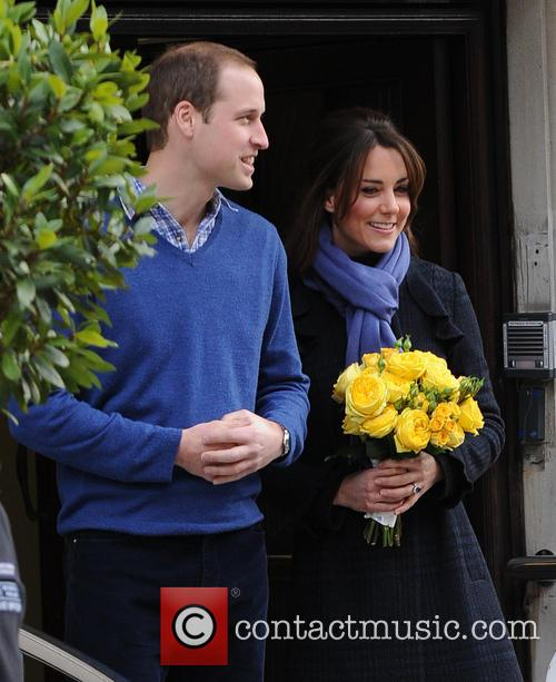 Kate Middleton and Prince William leaving hospital