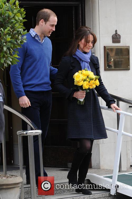 Prince William, Duke, Cambridge, Catherine, Duchess, King Edward, Hospital and Monday 2