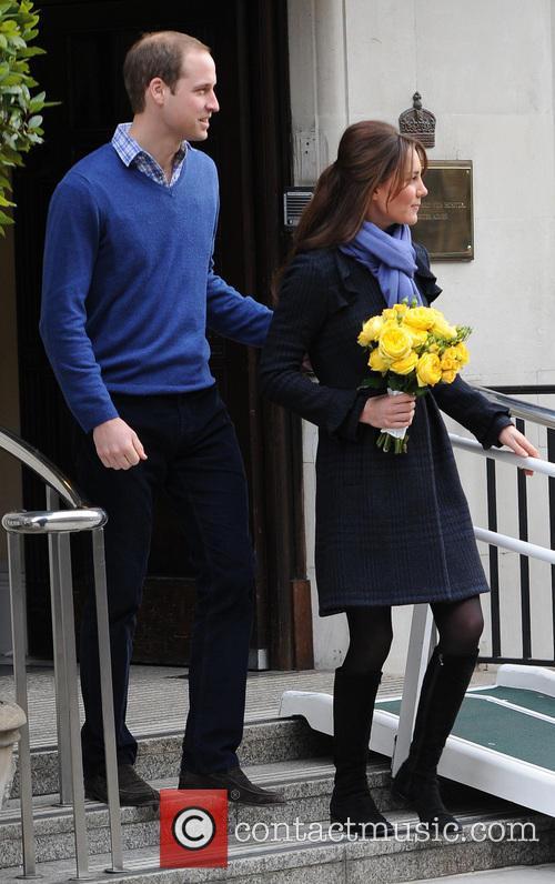 Prince William, Duke, Cambridge, Catherine, Duchess, King Edward, Hospital and Monday 1