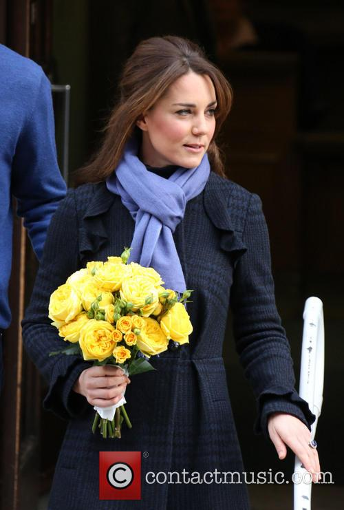 Kate Middleton leaves King Edward VII Hospital, 2012