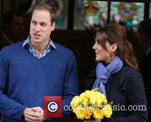 Prince William, The Duke, Cambridge, Kate Middleton, Duchess, King Edward, Hospital, Catherine and Monday 1