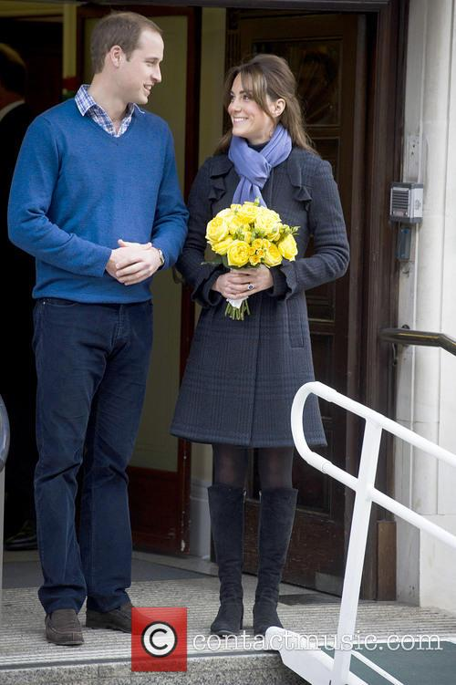 Prince William, The Duke, Cambridge, Kate Middleton, Duchess, King Edward, Hospital, Catherine and Monday 3