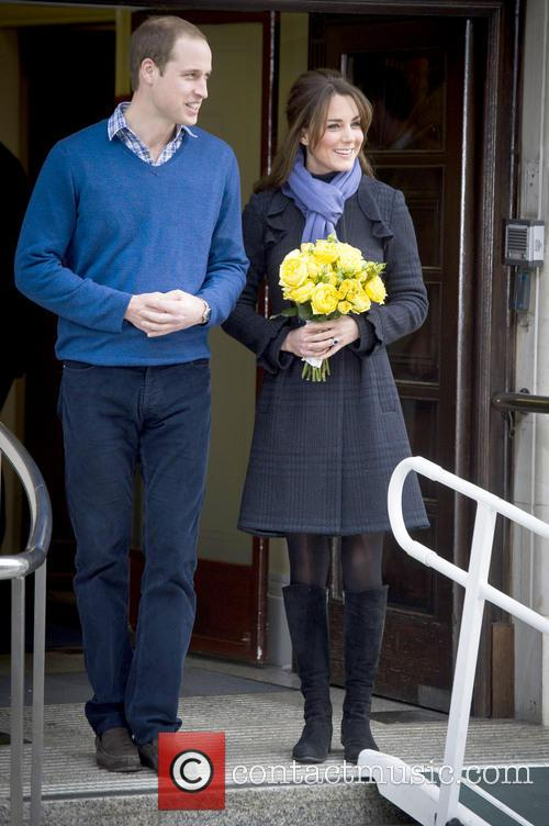 Prince William, The Duke, Cambridge, Kate Middleton, Duchess, King Edward, Hospital, Catherine and Monday 4