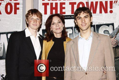Marilu Henner with her sons Joey Lieberman and...