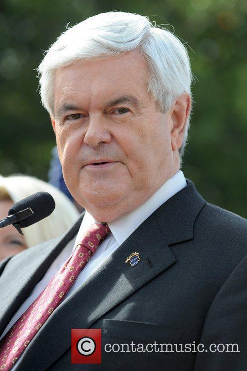 Republican presidential candidate Newt Gingrich appears at a...