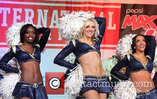 St Louis Rams Cheerleaders, Trafalgar Square and Wembley Stadium 2