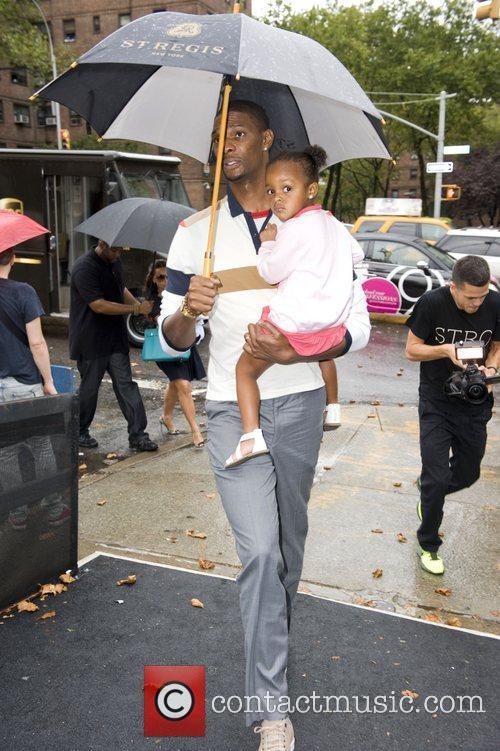 Chris Bosh and daughter  Mercedes-Benz New York...